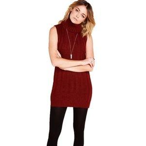 Brave Soul Medium Roll Neck Knit Red Dress